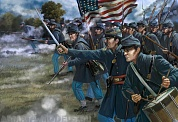 72150ST Фигуры American Civil War US Troops in Attack 1/72