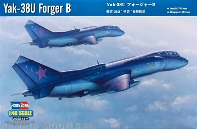 80363 Самолет Yak-38U Forger B Hobby Boss
