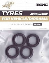SPS-001 Tyres for Vehicle/Diorama (4pcs)