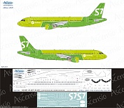 320-033 Декаль для самолета Airbus A320 S7 Airlines new colors 2017 1/144