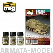 AMIG7401 Ammo Mig Набор для создания реалистичных эффектов SUMMER DUST SET