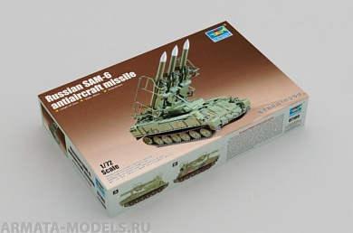 07109 САУ Russian SAM-6 Antiaircraft Missile Trumpeter