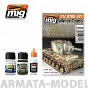 AMIG7411 Ammo Mig Набор для создания реалистичных эффектов WINTER CAMO SET
