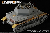 "PE35408 Набор фототравления для WWII German Panzer IV ausf G 20mm Flakpanzer IV ""Wirbelwind""(For DRAGON 6342)"