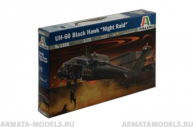 "1328ИТ Вертолет UH-60 Black hawk ""Night raid"" Italeri, 1/72"