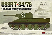"13505 Танк  USSR T-34/76 ""No.183 Factory Production"""