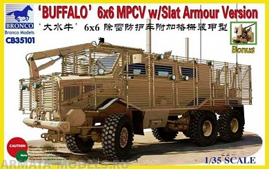 CB35101 Бронемашина  BUFFALO 6x6 MPCV w/Slat Armour Version Bronco Models